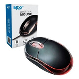 Mouse Optico 3d Usb Led Marca Imexx Negro Ime26300 Bagc