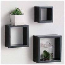 Repisas Juegos De 3 Cubos Muebles Decorativos 100% Mdf