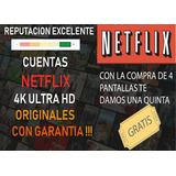 Cuente Neflix Original | Premium | Ultra Hd 4k | Garantizada