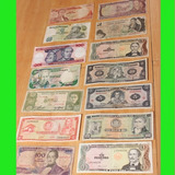 Lote Billetes Antiguos Varios Paises