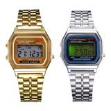 Relojes Casio Retro Vintage Wr Unisex Dorado Y Plateado