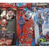 Reloj De Niños Spiderman Avengers Cars