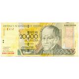 Billete 20.000 Bolívares Agosto 13 De 2002 - Serial B8