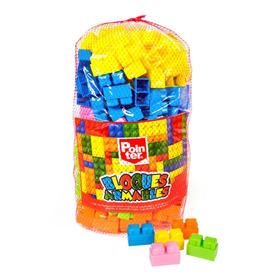 Bloques Armar Tipo Lego Construccion Bolso 185 Pzs Juguetes