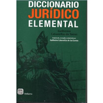 Diccionario Juridico Elemental (guillermo Cabanellas)