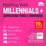 Hosting Hospedaje Web Millennials Plus - Pago Mensual