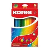 Creyones Kores De 36 Colores