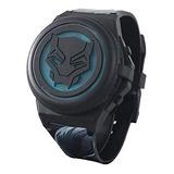 Pantera Negra Reloj Digital Con Luz Marvel Black Panther