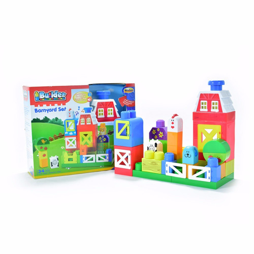 Lego mega bloks piezas grandes corral granja winfun nuevo - Piezas lego gigantes ...