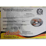 Timbres Fiscales Estampillas Estado Miranda 2ut Oferta 2pack