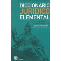 Libro, Diccionario Jurídico Elemental Guillermo Cabanellas.
