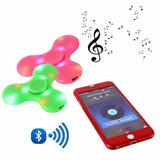 Fidget Spinner Luz Led Secuencia Bluetooth Audio Recargable!