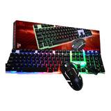 Kit Teclado Y Mouse Gamer L-tech W33 1600 Dpi Ful Color Luz