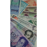 Excelente Set 9 Billetes Antiguos / Venezuela. Sin Circular