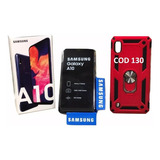 Samsung Galaxy A10 L A T I N O S +forro+vidrio+microsd -140-