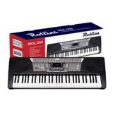 Teclado Piano Rollins Rol-244 Keyboard Led Discplay 61- Key