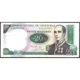 Billete 20 Bolívares Conmemorativo 1987 Serial A8   Ef/ Ef+