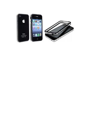 950c896db4b Forro Protector Bumper Iphone 4/4s Negro Somos Tienda Fisica