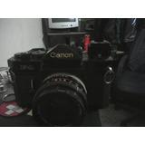 Camara Canon Mod F1 Y Flash Marca Sakar 24m
