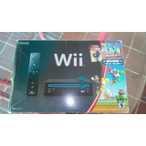 Wii Negro Version Super Mario Bros Y Super Mario Galaxy  65v