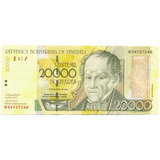 Billete 20.000 Bolívares Agosto 13 De 2002 - Serial B8
