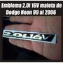 Emblema 3d De 2.0i16v Para Maleta Dodge Neon Del 99 Al 2006