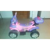 Moto De Batería 12v Para Niñas Buen Estado Rosada