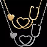 Collar Ritmo Latido De Corazon Estet Infarto Medico Doctor