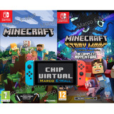 Combo Minecraft 1 Y 2 Para Nintendo Switch + Chip Virtual