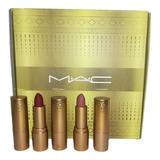 Set Dorado 12 Labiales Mate Mac