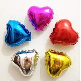 Globos Metalizados Corazón Pequeño 5 Pulgadas