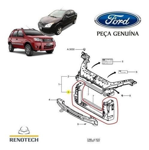 Marco Inferior De Radiador Fiesta Power Max Move Original Foto 4