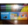 50 Estuches Para Cd Cd-r Dvd Bluray Maxell Acrilico Color