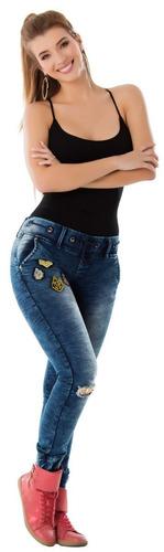 09c9651a2 Pantalones Jeans Juvenilesl Tipo Jogger Stretch Didijin