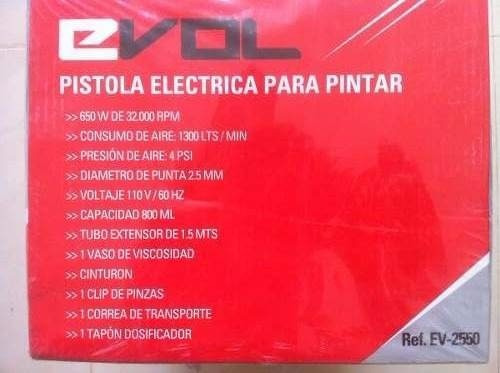 Maquina para pintar evol 650w rpm modelo ev 2550 - Maquina de pintar electrica ...