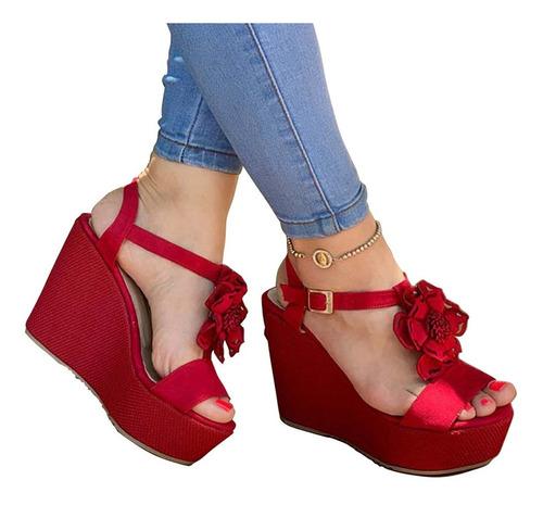 47ac2e94 Sandalia De Plataforma Para Dama Moda Colombiana Zapato