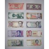 Lote De 10 Billetes Antiguos Sin Circular De Venezuela
