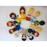 Princesas Disney 25cmts Peluche, Muñeca, Figura En Fieltro