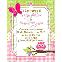 Tarjetas De Invitacion Baby Shower Niña - 13cmx10cm