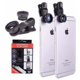 Lentes 3 En 1 Ojo De Pez Macro Gran Angular iPhone Samsung
