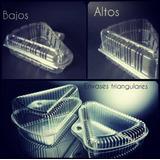 Envases Plásticos Triangulares Transparentes Altos Y Bajos.