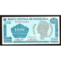 Tinoquito Bs.2 A W Nuevo Unc Dificil Billete Por Su Serial