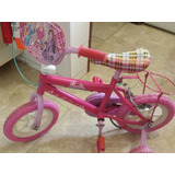 Bicicleta Barbie  Niña Rin 12 Para Reparar Pequeño Detalle