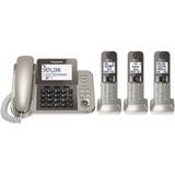 Telefono Panasonic Fijo + 3 Estaciones Muchas Funciones