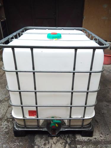 Tanque 1000 lts baritanque o maxicubo para agua leche etc for Precio de estanque de agua 1000 litros