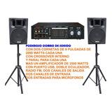 Planta 3500w + 2 Cajones + 2 Paral, Cornetas Amplificador