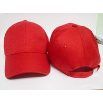 Gorras Acrílicas Para Estampar Y Bordar Rojas