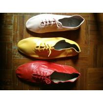 Zapatillas Para Danza Italianas (con Trenza) Rosado Y Rojo