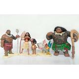 Colección De 6 Figuras De Moana De Colección 6-8cm