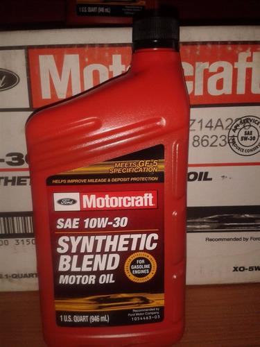 Motorcraft 10w30 y 5w30 semisintetico original bs for Motorcraft synthetic blend motor oil